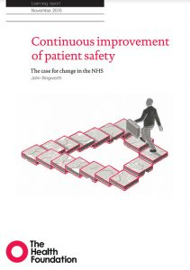 CHFG continuous improvement of patient safety