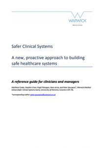 CHFG safer clinical systems